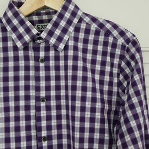 Express Shirts - Express Fitted Purple Shirt 14-14½ Gingham